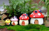 Wholesale fairy houses resale online - house mushroom Castle DIY Resin Fairy Garden Craft Decoration