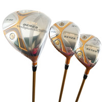 Wholesale free golf club drivers resale online - New HONMA Golf Clubs S Golf Wood Set Star wood driver Clubs Graphite shaft R or S Golf shaft