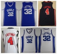 7deef3425 College 32 Christian Laettner Jersey 32 Duke Blue Devils 1992 USA Team One  4 Laettner Basketball Jerseys Navy Blue White Team Color
