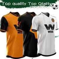 camisas de futebol personalizadas venda por atacado-2020 Wolverhampton Treino de Futebol Jersey # 8 NEVES # 15 BOLY Camisa de Futebol 19/20 Wanderers FC Amarelo Preto Branco Camisas Personalizadas Uniformes