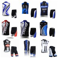 Wholesale giant team cycling bicycle jerseys online - GIANT team Cycling Sleeveless jersey Vest shorts sets riding bike shirts Summer breathable bicycle wear clothing ropa ciclismo F