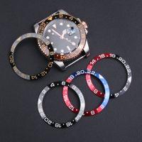 relógios de face azul venda por atacado-38-30.5mm Preto Blue Gold painel de cerâmica Insert Para 40 milímetros Dial para Submariner Gmt Oyster Yacht Man face do relógio Relógios Substituir Acessórios