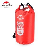 Wholesale waterproof bag 15l resale online - 15L Ultra portable waterproof travel bags colors NatureHike outdoor drifting swimming waterproof bags Red Blue Orange Green