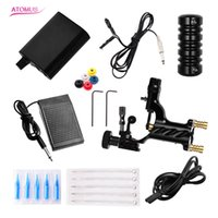 Atomus Profesional Tattoo Machine Kit Green Rottary Tattoo Guns Power Supply Pedal Bandage Grips with Tattoo Needle and Tips Accessaries