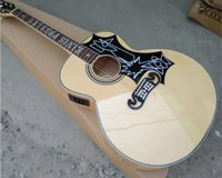 jumbo akustikgitarre groihandel-2019 neue Elvis Presley J200 Akustikgitarre Jumbo Gitarre Flamme Ahorn Korpus 43 Inches J200 Acoustic Solid Elektroakustik