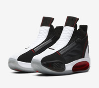 Wholesale boys basketball shoes resale online - AJ SE ALL STAR Black Red White Basketball Shoes Best Jumpman XXXIV s Men Trainer Shoe With box Store Size