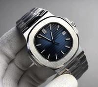 водостойкие серебряные часы оптовых-Топ Nautilus мужской Luxury Leisure Watch 5711 Спортивная серия Серебряный ремешок из нержавеющей стали Автоматические механические часы Fashion Водонепроницаемые часы