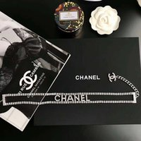 Wholesale lock chains necklaces resale online - Designer letter luxury Necklace with box Claw chain full diamond necklace Bright fashion gorgeous Zbd0085