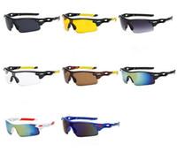 quecksilber sportbrillen großhandel-Mode Winddicht Übergroßen Halbrandlosen Sonnenbrillen Outdoor Sports Reflektierende Mercury Radfahren SUN Brille Anti-UV Brille Goggle A ++