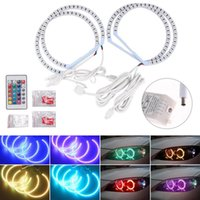 smd led rings оптовых-Для E36 E38 E39 E46 Multi-Color RGB внезапное SMD Angel Eyes Halo Rings