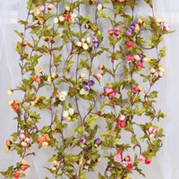 Wholesale arch decorations for sale - Group buy 220cm Wall Hanging Artificial Mini Silk Rose Flowers Rattan Vines Plant Arches Wedding Decoration Hanging Garland Decor