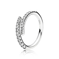 Wholesale silver star wedding for sale - Group buy Clear CZ Diamond Shooting Star Ring Set Original Box for Pandora Sterling Silver Women Girls Wedding meteor Open Rings