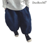 бренд брюнет большой мальчик оптовых-Baby Boys Girls Jeans 2018 Spring Children Casual Big Pants Trousers  Fashion 3-7Yrs Kids Trousers Children Denim Bloomers