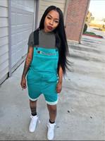 Wholesale women straps trousers resale online – Women Champion Summer Romper Brace Trousers Designer Overall Shorts Jumpsuit Short Suspender Pants Brand Straps Shorts Overalls S xl A4802