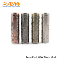 vape classic venda por atacado-Tesla autêntica Punk 86 W Caixa Mod Clássico Teslacigs Estilo Punk Compitível com Único 18650 Bateria Mod Vape