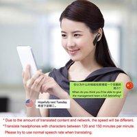 casque de temps achat en gros de-Oreillette Bluetooth sans fil à traduction en temps réel sans fil Bluetooth