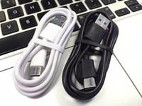 telefones s4 venda por atacado-Tipo c Usb c Micro 5pin cabo 1 m 3ft branco preto usb sincronização de dados cabos de carregamento para samsung s4 s6 s7 borda s8 s9 htc android telefone