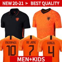 Wholesale football shirts holland resale online - 2020 Netherlands soccer jersey Holland football jerseys kits shirt camisa de futebol maillot de foot Kids retro soccer jerseys
