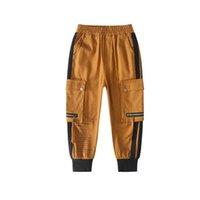Wholesale boys brown trousers resale online - 2020 new boys pants casual boys trousers kids designer clothes boys harem pants big kids designer clothes kids clothes retail B578