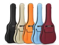 guitarra de polegada venda por atacado-alças duplas especiais negrito 5MM de algodão grosso de 40 polegadas 41 polegadas violão saco cor guitarra acústica fabricantes de saco atacado
