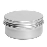 fazer a lata venda por atacado-ABSF Nail Art Creme Cosmético Make Up Pot Lábio Tin Case Recipiente 5 Pcs 50 ml de Prata