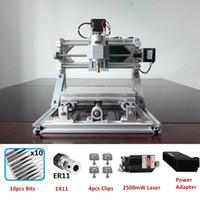 roteador v venda por atacado-CNC1610 Router Gravura A Laser Máquina de Gravador A Laser ER11 GRBL Hobby Machine 110 V 220 V para Madeira PCB PVC Mini CNC Router Table