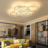 yüksek güç tavan armatürleri açtı toptan satış-Beyaz Bulutlar Için Yüksek Güç LED Tavan Avize Oturma Odası Yatak Odası Ev Modern Led Avize Lamba Armatürü