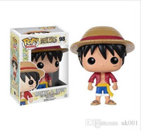 uma peça miúdo luffy figura venda por atacado-Funko POP One Piece PMONKEY. D. LUFFY Vinil Figura de Ação Com Caixa # 202 Popular Toy Frete Grátis caçoa o presente