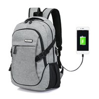 Wholesale powerbank for laptops for sale - Group buy Fashion inch Laptop Backpack Fashion daypack Men Nylon Bag Powerbank Charge Bagpack Waterproof Backpack Mochila for male