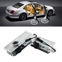 luz de sombra de laser de porta de carro venda por atacado-2 Pcs Luzes Bem-vindo Para BMW Porta Do Carro LEVOU Logotipo de Iluminação LED Sombra Projetor Laser para BMW 3/5/6/7/Z / GT / X / Mini Series