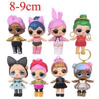 accessoires pour anniversaire achat en gros de-8 pcs / lot 8-9 cm LoL Poupées Américain PVC Kawaii Enfants Jouets Anime Figurines Réaliste Poupées Reborn Pour Enfants Cadeau D'anniversaire