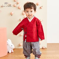 Wholesale chinese baby boy clothing for sale - Group buy dave bella autumn baby boys clothing sets suit children clothes Chinese style thick T200413
