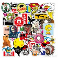 Wholesale mini laptop online - 100pcs Mixed Cartoon Toy Stickers for Car Styling Bike Motorcycle Phone Laptop Travel Luggage Cool Funny Sticker Bomb JDM Decals