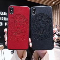 Wholesale holster for phone for sale – best PVC Leather Back Cover Case Head Portrait Print Holster Phone Shell Printed Letter Paris for iPhone XS Max XR s Plus
