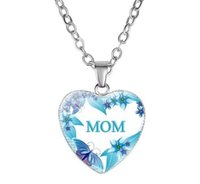 Wholesale han glasses for sale - Group buy Mother s Love Mom Heart Shaped Pendant Necklace Han Edition Is Contracted To Mother s Day Gift Diamond Necklace