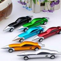 çocuklar için araba tasarımı toptan satış-Komik Araba Yarışı Tasarım Tükenmez Kalemler Yaratıcı Araba Tükenmez Kalem Kaliteli Çocuk Çocuklar için Oyuncak Ofis Malzemeleri Hediyel ...