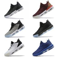 zapatos morados oscuros al por mayor-Venta caliente Lebron 16 Zapatillas de baloncesto para niños SuperBron Black Glow in dark Throne Azul Blanco Púrpura Gris zapatillas deportivas Zapatillas de deporte