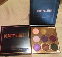 Wholesale wholesale beauty online - High quality Beauty Glazed burgundy flossy pressed powder color eyeshadow palette Burgundy Bronze Eye Shadow beauty makeup