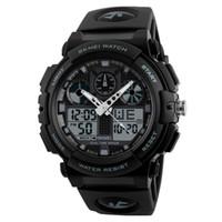 ingrosso orologio di allarme analogico-SANWOOD New Outdoor Uomini cronometro impermeabile Data allarme sportivo analogico digitale orologio da polso moda uomo guarda