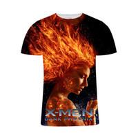 3d película x al por mayor-Moda cool movie X-Men: Phoenix camiseta negra hombre / mujer camisetas 3D impresas Marvel Harajuku camiseta de verano estilo streetwear tops
