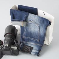ingrosso jeans di moda coreani-Fashion Tide Brand Mens Pantaloni New Pattern Uomo che lava i piedi piccoli Jeans versione coreana Youth In pantaloni minimalista vita