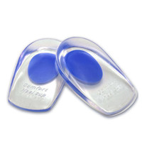 Wholesale shoes silicone pads online - Silicone Gel Insoles Heel Pad Foot Care Cups Calcaneal Spur Elastic Care Half Insole Shoe Inserts RRA885