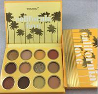 Wholesale metallic makeup resale online - Drop shipping Colourpop California Love Palette Colors Makeup Set Orange Pumpkin color Eyeshadow Palette