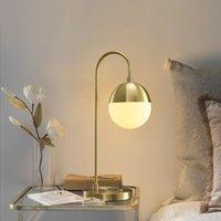 Wholesale retro glass table lamp resale online - Retro LED Wall Light Modern glass table lamp bedroom Light Creativity Bedroom Bedside Glass Ball led table lights for bedroom