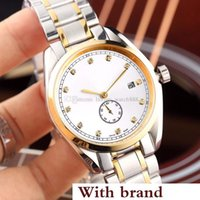 Wholesale case contracting resale online - Hot mens watch classic watches mechanical watch diameter mm stainless steel case strap waterproof contracted two needles