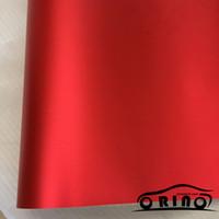 moto rouge chrome achat en gros de-10/20/30/40 / 50x152CM Chrome Métallique Rouge Vinyle Autocollant Chrome Mat Rouge Voiture Film D'emballage Pour Moto Décoration De Corps De Voiture