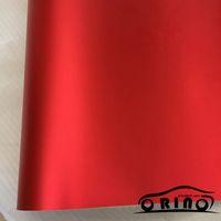 coches rojos mate al por mayor-10/20/30/40 / 50x152CM Cromado Metálico Rojo Vinilo Adhesivo Mate Cromo Rojo Película de Embalaje de Coche Para Motocicleta Coche Decoración del cuerpo