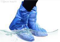 ropa de lluvia plástica al por mayor-Al por mayor-PVC Protección Ambiental Cubrezapatos a prueba de agua para la cubierta del zapato Calzado de plástico lluvia directamente Washed Cubrezapatos reutilizables