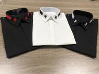 корейский простой белый модный костюм оптовых-Классический новый мужчины повседневная белые рубашки с длинным рукавом мужская рубашка тонкий досуг плед топы 3color размер M-2XL роскошные одежда хлопчатник