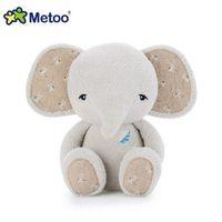 lindo animal elefante al por mayor-Animales Peluches 1pc Cartoon Metoo Plush Doll Cute Stuffed Animal Plush Elephant Toy Kids Soft Toys Regalo de cumpleaños
